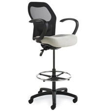 Grid400 Series Medium Round Back Multiple Shift Quick Set Back Height Stool