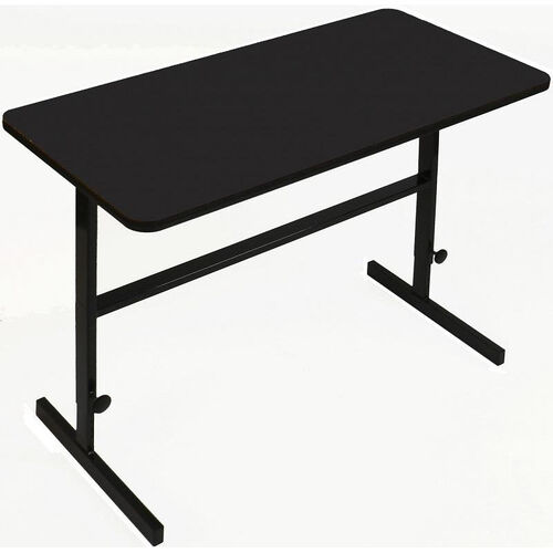 Our Height Adjustable Rectangular Laminate Top Standing Work Station - Black Granite - 24