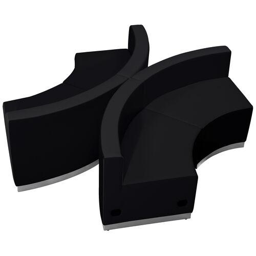 HERCULES Alon Series LeatherSoft Reception Configuration, 4 Pieces