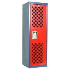 Home Team Locker Unassembled - Blue Body & Red Door - 15