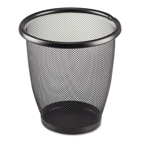 Our Safco® Onyx Round Mesh Wastebasket - Steel Mesh - 3qt - Black is on sale now.