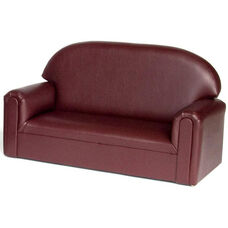 Just Like Home Toddler Size Overstuffed Vinyl Sofa - Port Burgundy - 34