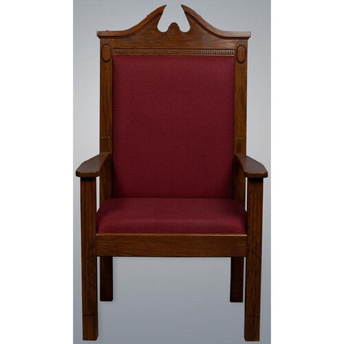 Our Stained Red Oak Side Pulpit Chair is on sale now.
