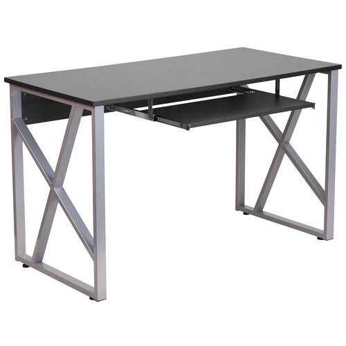 Our Black Computer Desk with Pull-Out Keyboard Tray and Cross-Brace Frame is on sale now.
