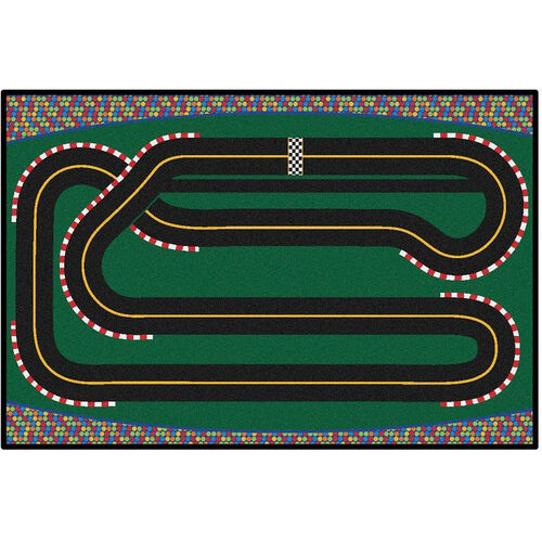 Our Kids Value Super Speedway Racetrack Rectangular Nylon Rug - 48