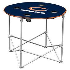 Chicago Bears Team Logo Round Folding Table
