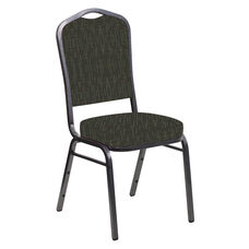 Embroidered Crown Back Banquet Chair in Amaze Willow Fabric - Silver Vein Frame