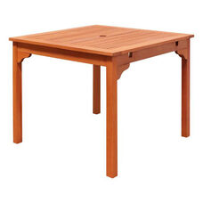 Malibu Outdoor Wood Square Stacking Table