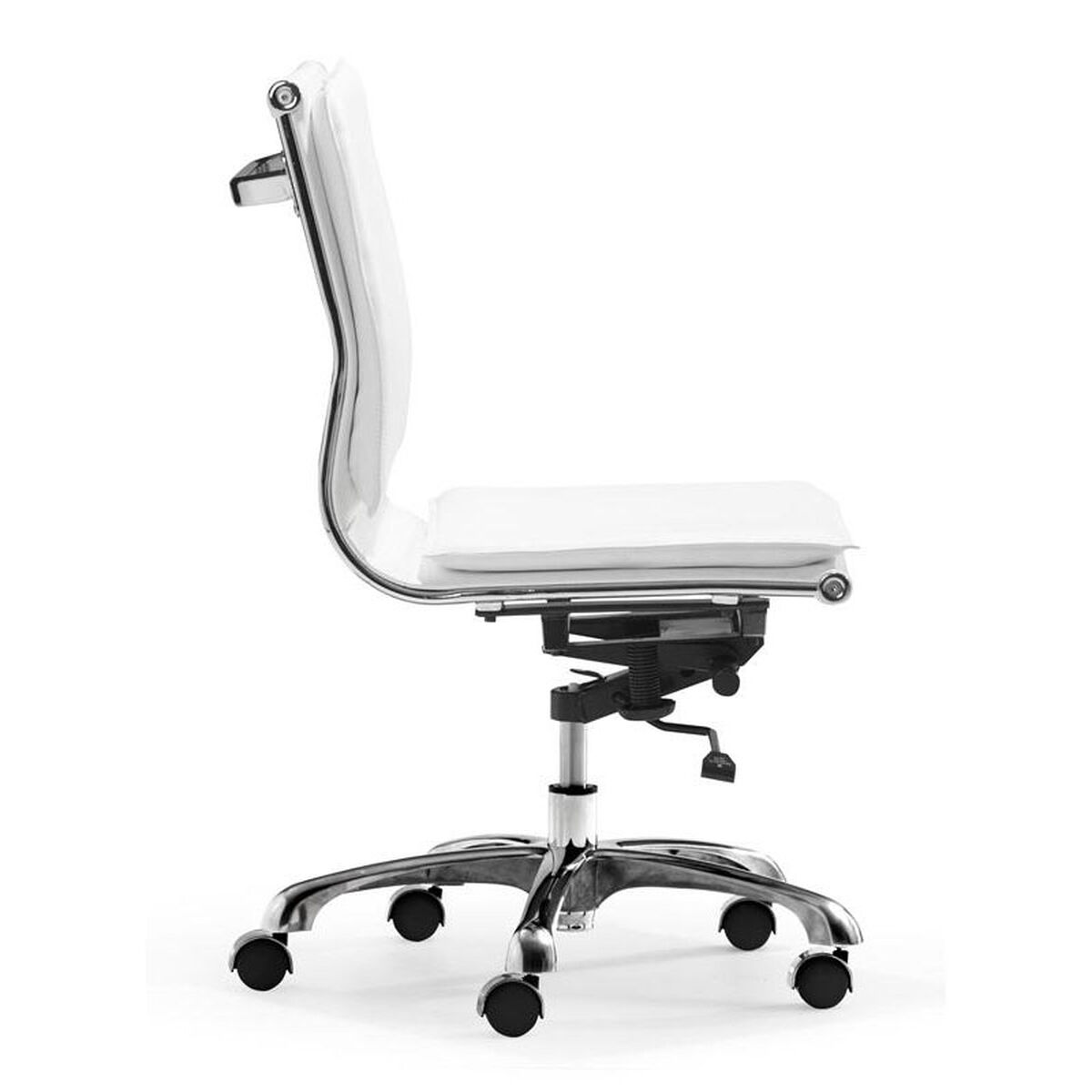 Our Lider Plus Armless Office Chair In White Is On Now