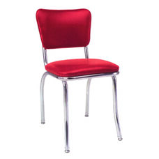 Chrome Side Chair with Upholstered Seat and Back - Grade 4 Vinyl