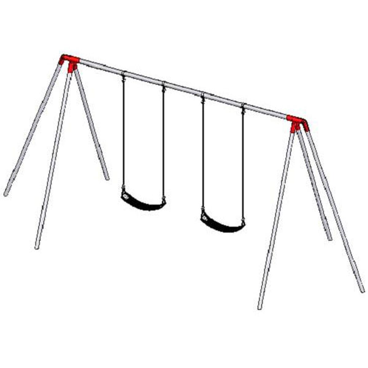 2 Seat Primary Bipod Swing Set 581 2208 Bizchair Com