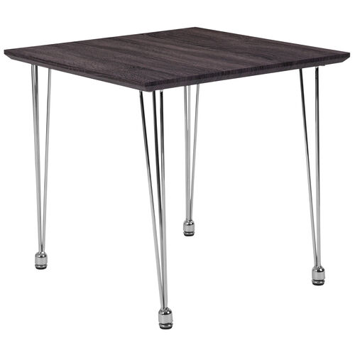 Our Georgetown Collection Charcoal Wood Grain Finish End Table with Chrome Legs is on sale now.