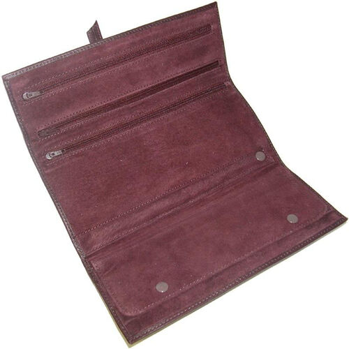 Our Jewelry Roll - Top Grain Nappa Leather - Burgundy is on sale now.