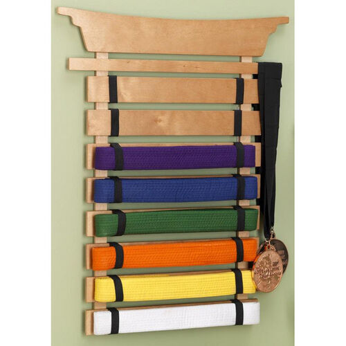 Our Children Martial Arts Karate Tai Kwan Do Belt Display Holder - Natural is on sale now.