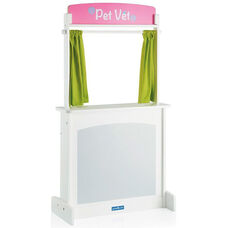 Showtime Floor Theater with Reversible Marquis Sign and Light Green Curtains - 26