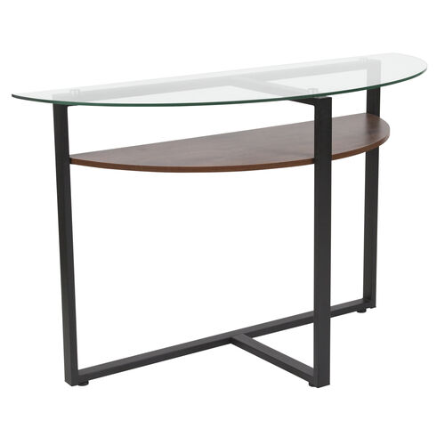 Our Princeton Collection Glass Console Table with Rustic Oak Wood Finish and Black Metal Legs is on sale now.