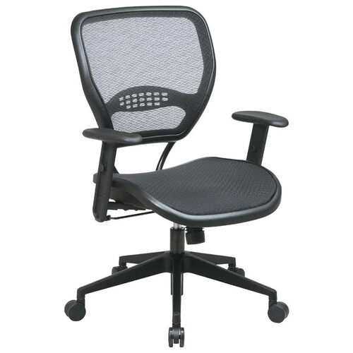Our Space Air Grid Seat and Back Deluxe Task Chair with Adjustable Arms and Heavy Duty Angled Nylon Base - Black is on sale now.