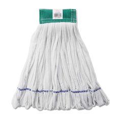 Rubbermaid® Commercial Rough Floor Mop Head - Medium - Cotton/Synthetic - White - 12/Carton