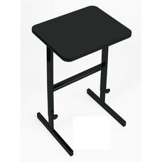 Height Adjustable Rectangular Laminate Top Standing Work Station - Black Granite - 20
