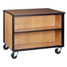 Mobile Low Storage Cabinet w/1 Adjustable Shelf