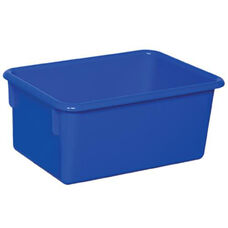 Solid Blue Plastic Cubby Trays - Assembled - 8