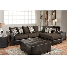 Riverstone Rip Sable Chenille Sectional with Right Side Facing Chaise