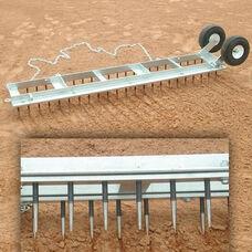 Diamond Galvanized Steel Digger Field Groomer with Wheels
