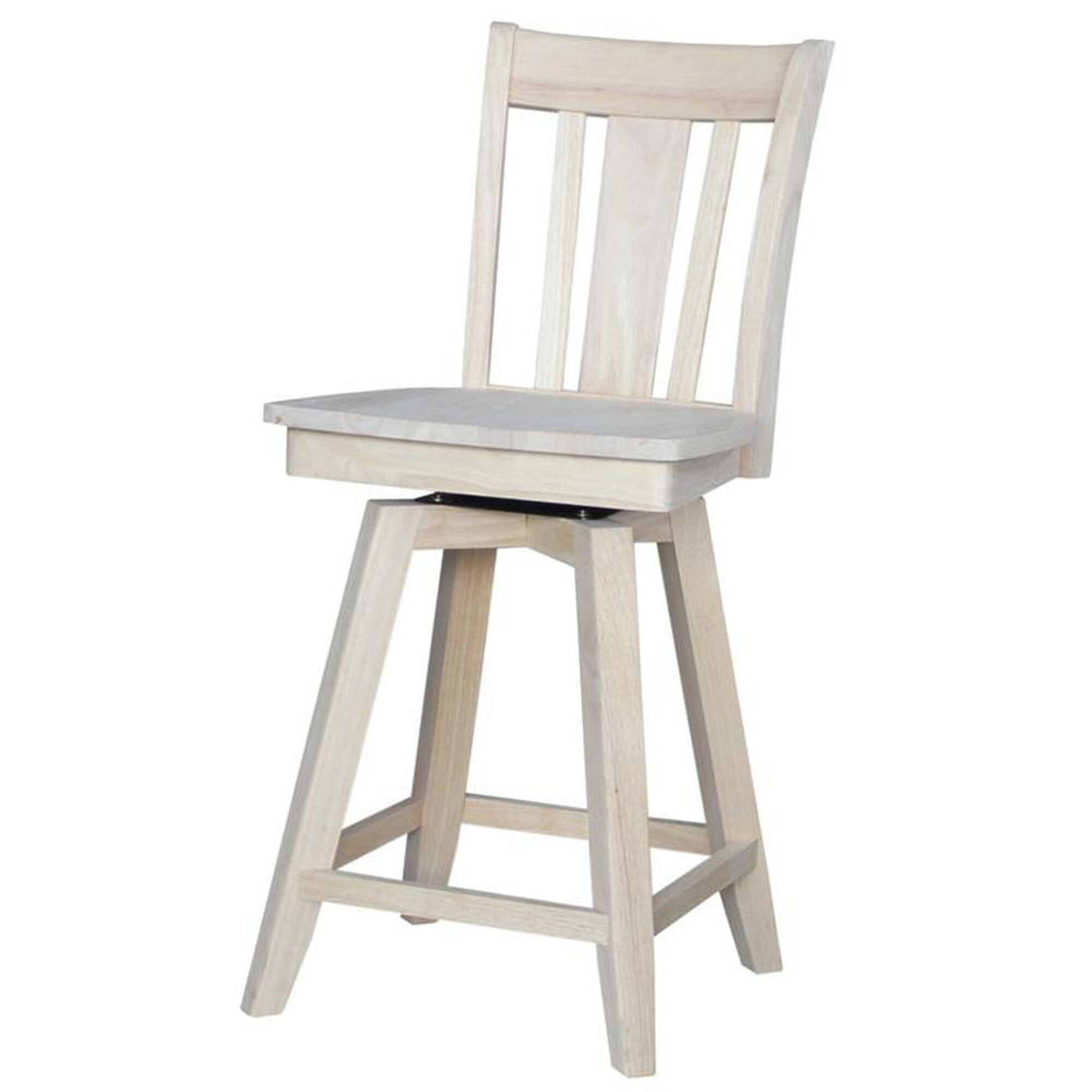 Solid Parawood Counter Stool S 102sw Bizchair Com