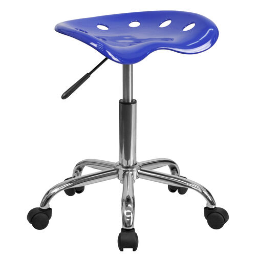 Our Vibrant Nautical Blue Tractor Seat and Chrome Stool is on sale now.