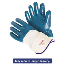 Memphis™ Predator Nitrile Gloves - Blue/White - Large - 12 Pairs