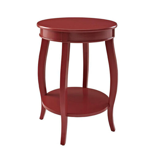Rainbow Round Table with Shelf - Red