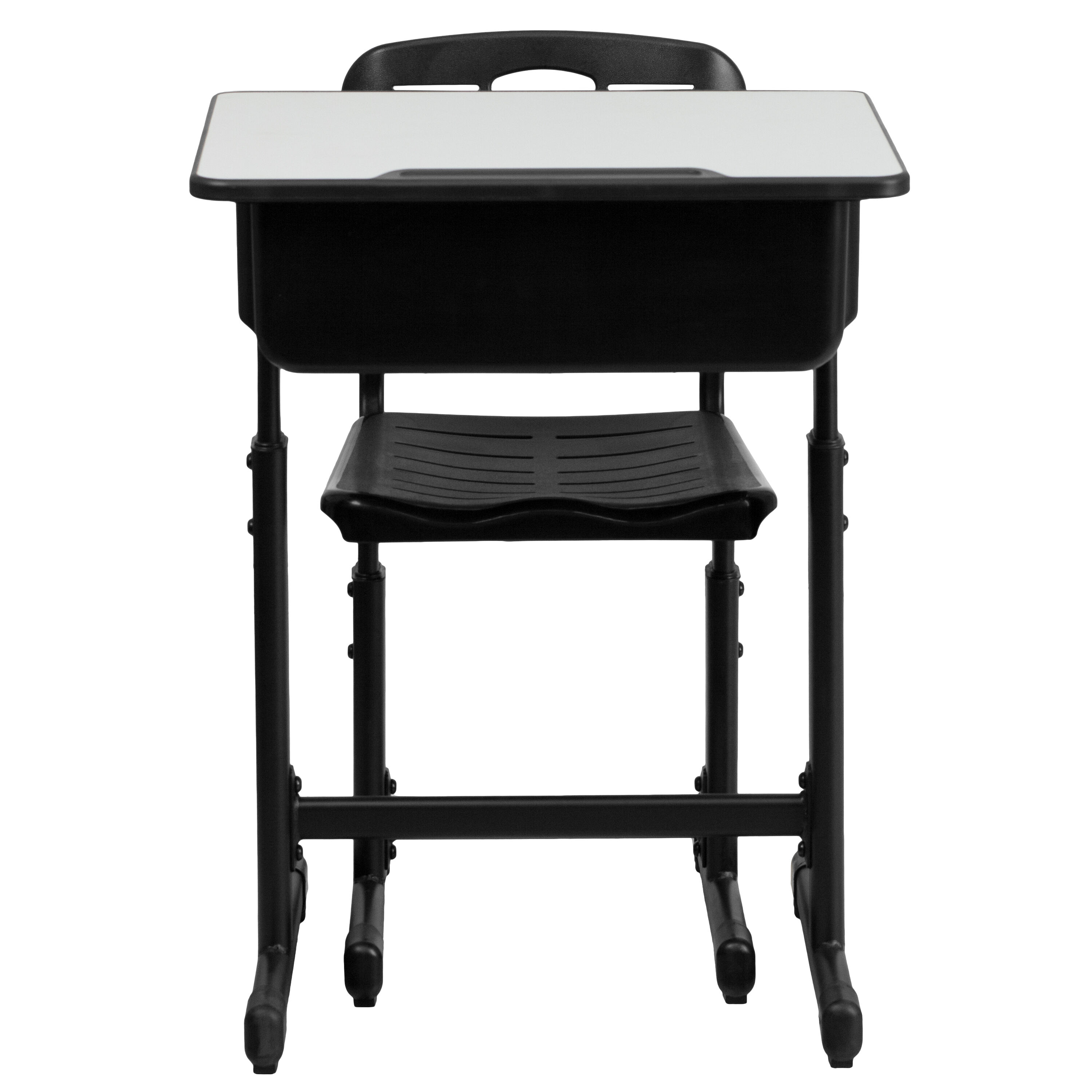 Flash Furniture Adjustable Height Student Desk and Chair with Black ...