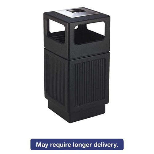 Our Safco® Canmeleon Ash/Trash Receptacle - Square - Polyethylene - 38gal - Textured Black is on sale now.