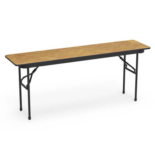 Our 6000 Series Traditional Rectangular Folding Table with Black Frame - 18