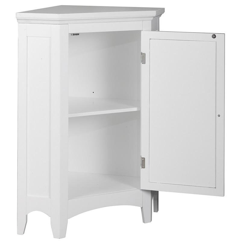 Our Slone Corner Floor Cabinet With One Shutter Door   White Is On Sale Now.