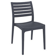 Ares Resin Outdoor Stackable Dining Chair - Dark Gray