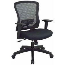 Space Seating CHX Dark Breathable Mesh Back and Padded Mesh Seat Managers Office Chair - Black