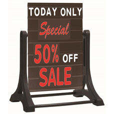 The Rocker Frameless Double Sided Sidewalk Sign with Deluxe Black Letterboard - 36