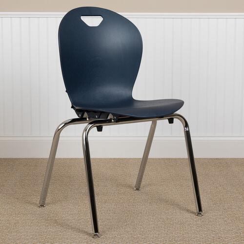 Advantage Titan Navy Student Stack School Chair - 18-inch