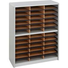 Value Sorter® Thirty-Six Compartment Literature Sorter and Organizer - Gray
