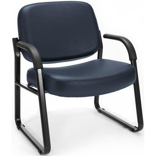 Our Big & Tall Guest and Reception Vinyl Chair with Arms - Navy is on sale now.
