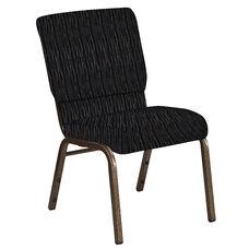 18.5''W Church Chair in Mystery Ebony Fabric - Gold Vein Frame