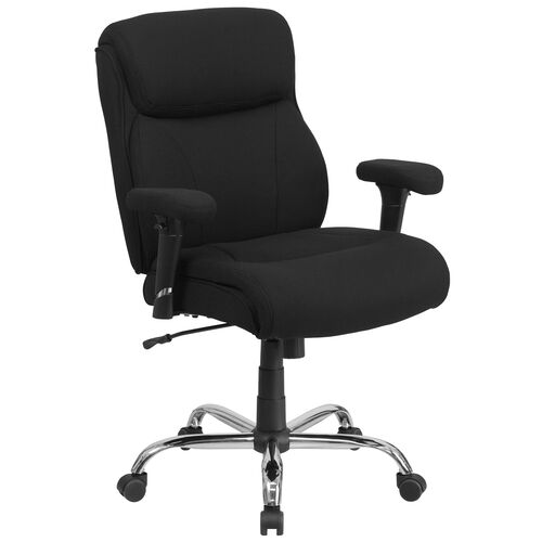 Our HERCULES Series Big & Tall 400 lb. Rated Black Fabric Ergonomic Task Office Chair with Line Stitching and Adjustable Arms is on sale now.