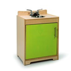Kids Contemporary Play Sink in Vibrant Green Birch Plywood