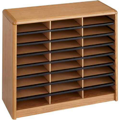 Our Value Sorter® Twenty-Four Compartment Literature Sorter and Organizer - Medium Oak is on sale now.