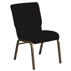 Embroidered 18.5''W Church Chair in Scatter Ferrer Fabric - Gold Vein Frame