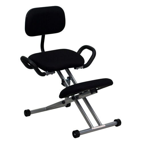 Our Ergonomic Kneeling Office Chair with Back and Handles in Black Fabric is on sale now.