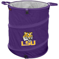 Louisiana State University Team Logo Collapsible 3-in-1 Cooler Hamper Wastebasket