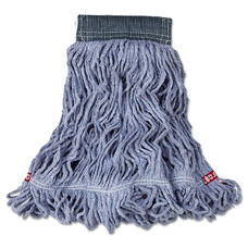 Rubbermaid® Commercial Web Foot Wet Mop - Cotton/Synthetic - Blue - Medium - 5