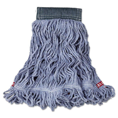 Our Rubbermaid® Commercial Web Foot Wet Mop - Cotton/Synthetic - Blue - Medium - 5